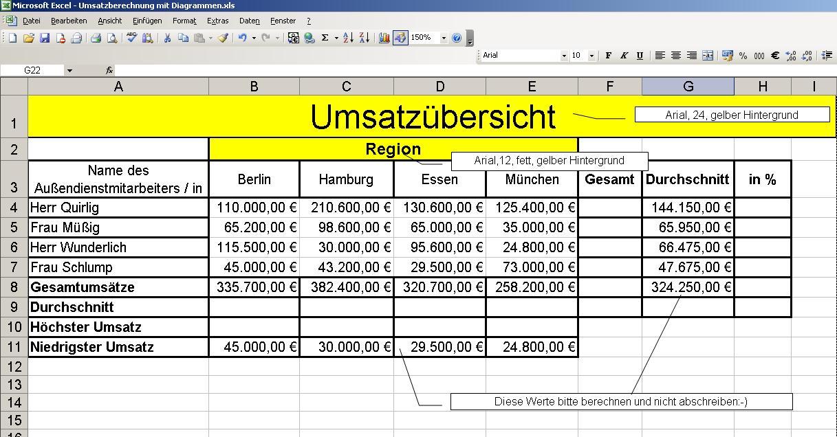 Dozentenhilfe  U00bb Excel